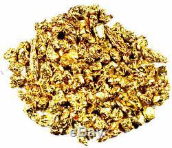 1.000 Grams Alaskan Yukon Bc Natural Pure Gold Nuggets #12 Mesh Free Shipping