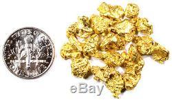 1.000+ Grams Alaskan Yukon Bc Natural Pure Gold Nuggets #4 Mesh Free Shipping