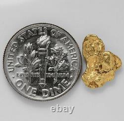 1.0463 Gram Alaska Natural Gold Nugget (#41516) FREE SHIPPING Alaskan Gold