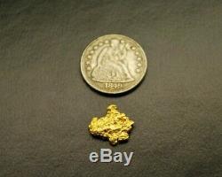 1.05g Rare Gold Nugget 23K+ Historic Cedar Creek Montana Natural Hand Dug