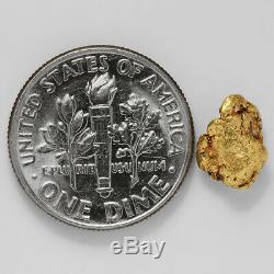 1.1412 Gram Alaska Natural Gold Nugget (#41538) FREE SHIPPING Alaskan Gold