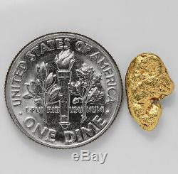 1.1674 Gram Alaska Natural Gold Nugget (#41512) FREE SHIPPING Alaskan Gold