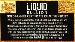 1.550 Grams Alaskan Yukon Bc Natural Pure Gold Nuggets #16 Mesh W Bottle (#b160)