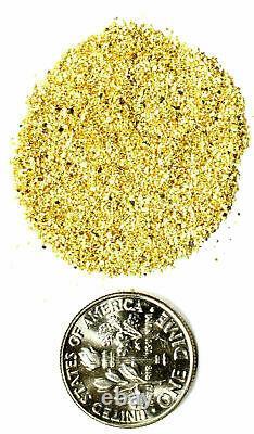 1.550 Grams Alaskan Yukon Bc Natural Pure Gold Nuggets Mesh #50 W Bottle (#b500)