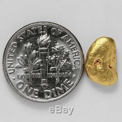 1.5782 Gram Alaska Natural Gold Nugget (#37807) FREE SHIPPING Alaskan Gold
