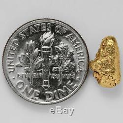 1.5989 Gram Alaska Natural Gold Nugget (#38834) FREE SHIPPING Alaskan Gold