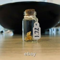 1.72 GRAMS Natural Crystalline Gold Nugget From Northern Territory, Australia