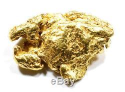 1.790 Grams Alaskan Yukon Bc Natural Pure Gold Nugget Free Shipping (#n801)