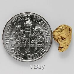 1.8005 Gram Alaska Natural Gold Nugget (#38768) FREE SHIPPING Alaskan Gold