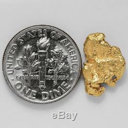 1.8661 Gram Alaska Natural Gold Nugget (#41299) FREE SHIPPING Alaskan Gold