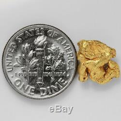1.8691 Gram Alaska Natural Gold Nugget (#41381) FREE SHIPPING Alaskan Gold