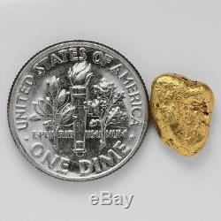 1.8714 Gram Alaska Natural Gold Nugget (#38830) FREE SHIPPING Alaskan Gold