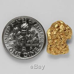 1.9063 Gram Alaska Natural Gold Nugget (#37796) FREE SHIPPING Alaskan Gold