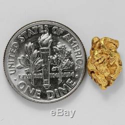 1.9335 Gram Alaska Natural Gold Nugget (#41546) FREE SHIPPING Alaskan Gold