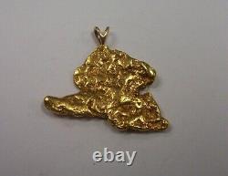 1 oz. + Natural Alaskan Gold Nugget Pendant