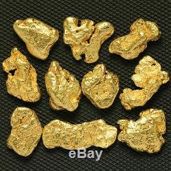 10 pcs Alaska Natural Placer Gold Alaskan Gold TVs Gold Rush (#10GTC4-6)