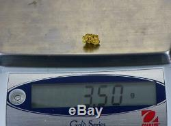 #1074 Australian Natural Gold Nugget 3.50 Grams Genuine