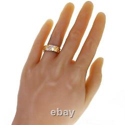 10k Yellow Gold Nugget Ring with Diamonds 7mm Size 7 4 grams