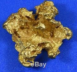 #1120 Large Natural Gold Nugget Australian 11.21 Grams Genuine