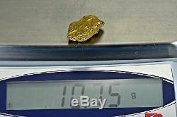 #1121 Large Natural Gold Nugget Australian 10.75 Grams Genuine