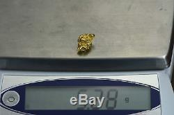 #1195 Large Natural Gold Nugget Australian 5.28 Grams Genuine