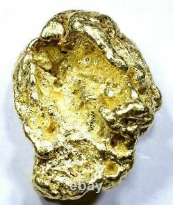 12.496 Grams Alaskan Yukon Natural Pure Gold Nugget Genuine (#n812) B Grade