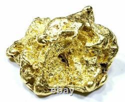 12.822 Grams Alaskan Yukon Bc Natural Pure Gold Nugget Genuine (#n811) B Grade