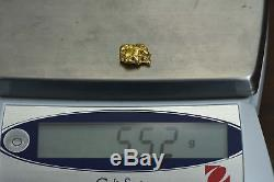 #1206 Large Natural Gold Nugget Australian 5.52 Grams Genuine