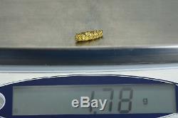 #122 Alaskan BC Natural Gold Nugget 1.78 Grams Genuine