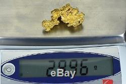 #1228 Large Natural Gold Nugget Australian 29.96 Grams Genuine