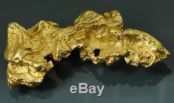 #1243 Large Natural Gold Nugget Australian 27.50 Grams Genuine Masquerade