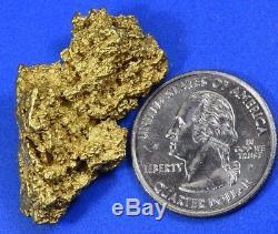 #1251 Large Natural Gold Nugget Australian 26.66 Grams Genuine