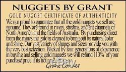 #1253 Large Natural Gold Nugget Australian 22.12 Grams Genuine