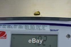 #126 Alaskan BC Natural Gold Nugget 1.92 Grams Genuine