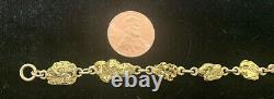 14K 22K Yellow Gold Natural Yukon Nugget Bracelet 7 1/2