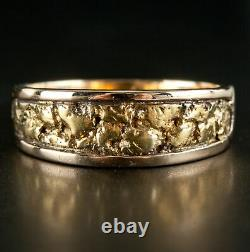 14k & 22k Yellow Gold Men's Natural Nugget Style Ring 5.85g Size 9.5