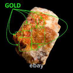 153 GRAMS / 5.4oz Australian Gold Bearing Quartz Rare Natural Specimen