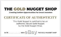 18.39 Gram Natural Gold Nugget Worn Crystal Gold