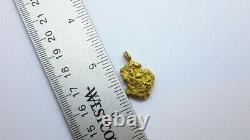 18 to 22K Natural Yellow Gold Nugget Pendant