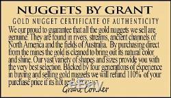 #187 Alaskan BC Natural Gold Nugget 4.43 Grams Genuine