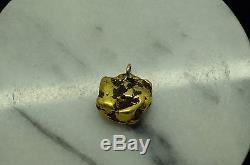 18k-20k Natural Alaska Gold Nugget Pendant 12.3 Grams