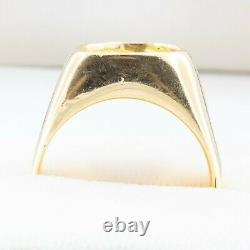 1980's Vintage Retro 14K Yellow Gold Natural Gold Nugget Gents Ring Size 10