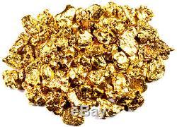 2.000 Grams Alaskan Yukon Bc Natural Pure Gold Nuggets #10 Mesh Free Shipping