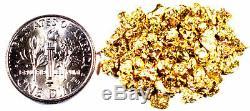 2.000 Grams Alaskan Yukon Bc Natural Pure Gold Nuggets #10 Mesh W Bottle (#b100)