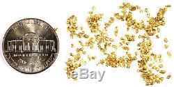 2.000 Grams Alaskan Yukon Bc Natural Pure Gold Nuggets #20 Mesh Free Shipping