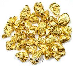 2.000 Grams Alaskan Yukon Bc Natural Pure Gold Nuggets #6 Mesh W Bottle (b600)