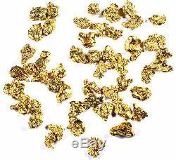 2.000 Grams Alaskan Yukon Bc Natural Pure Gold Nuggets #8 Mesh W Bottle (#b800)