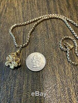 20/22 K. Solid Gold Nugget Pendant Natural Alaska/yukon 10.5 Grams 1/3 Oz