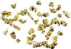 200 Piece Mixed Lot Alaskan Yukon Bc Natural Pure Gold Nuggets #12 #18 #25 #30 G