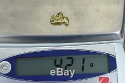 #241 Alaskan-Yukon BC Natural Gold Nugget 4.21 Grams Genuine
